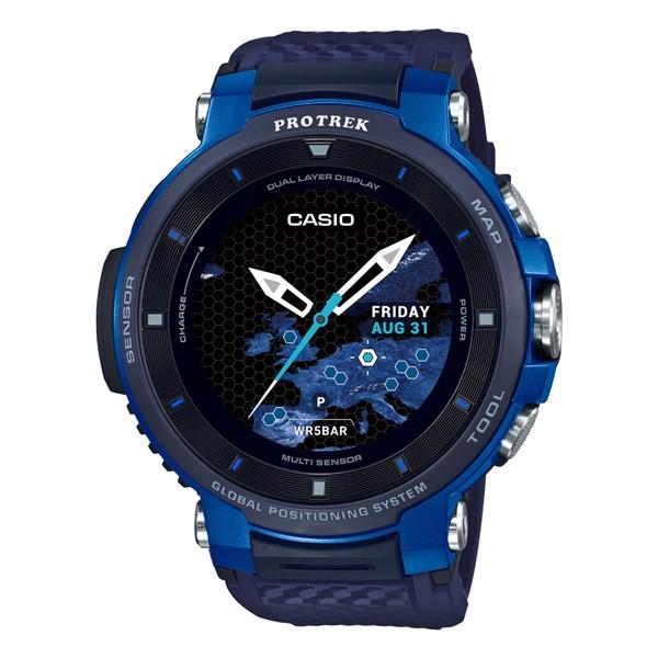 (国内正規品)(カシオ)CASIO 腕時計 WSD-F30-BU PROTREK(プロトレック) スマートアウトドアウォッチ メンズ ブルー(GPS タッチパネルディスプレイ)