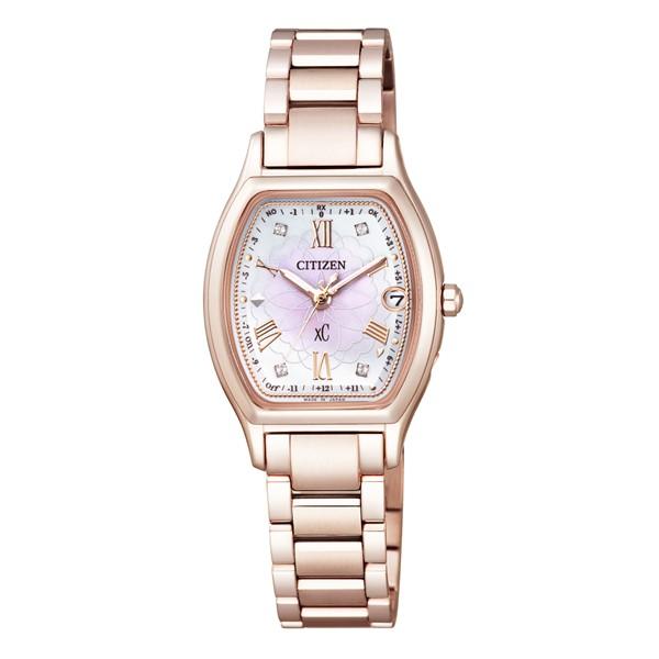 (国内正規品)(シチズン)CITIZEN 腕時計 ES9354-51W (クロスシー)xC レディース ハッピーフライト 八重桜 サクラピンク 限定モデル(チタンバンド 電波ソーラー アナログ)