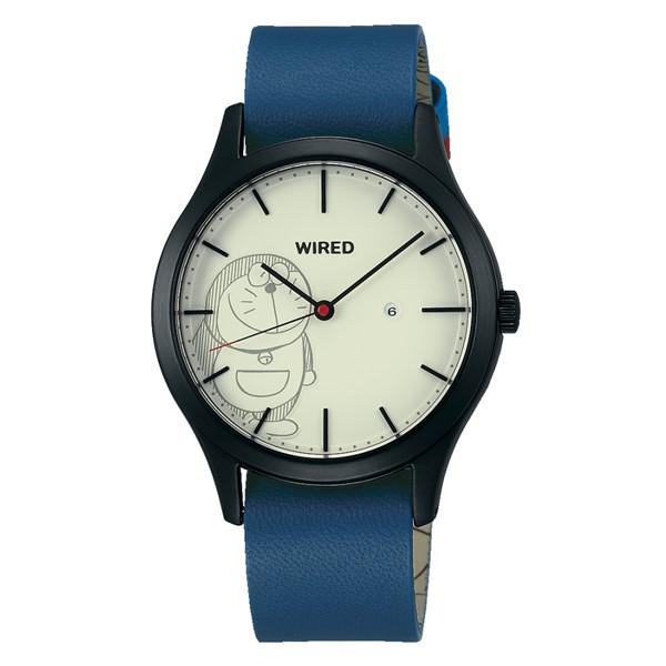 (国内正規品)(セイコー)SEIKO 腕時計 AGAK710 (ワイアード)WIRED メンズ レディース ユニセックス ドラえもんデザイン 限定モデル(牛革バンド クオーツ アナログ)