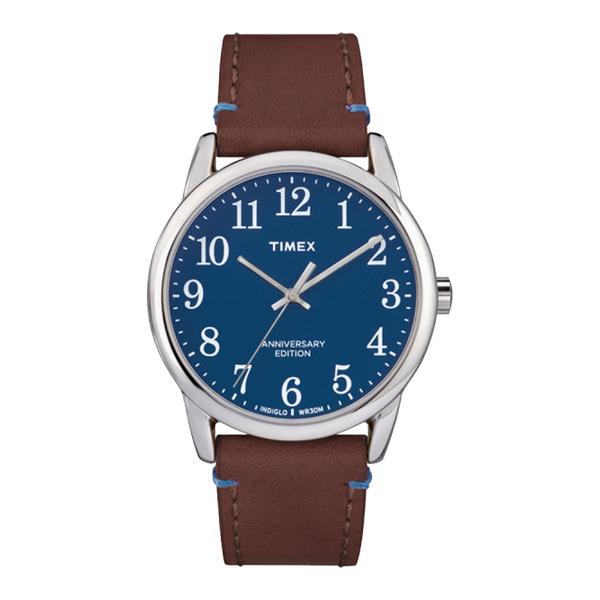 [タイメックス]TIMEX TW2R36000 イージーリーダー 40th ホーウィンレザー ネイビー 腕時計 メンズ [正規輸入品] (メール便不可)