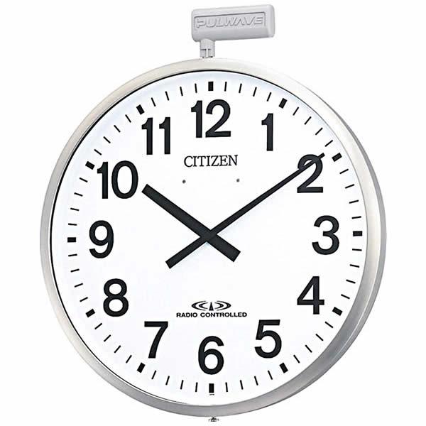 CITIZEN(シチズン) 電波掛時計 屋外タイプ パルウェーブM611B 4MY611-B19 【電波時計/掛け時計】【送料無料】