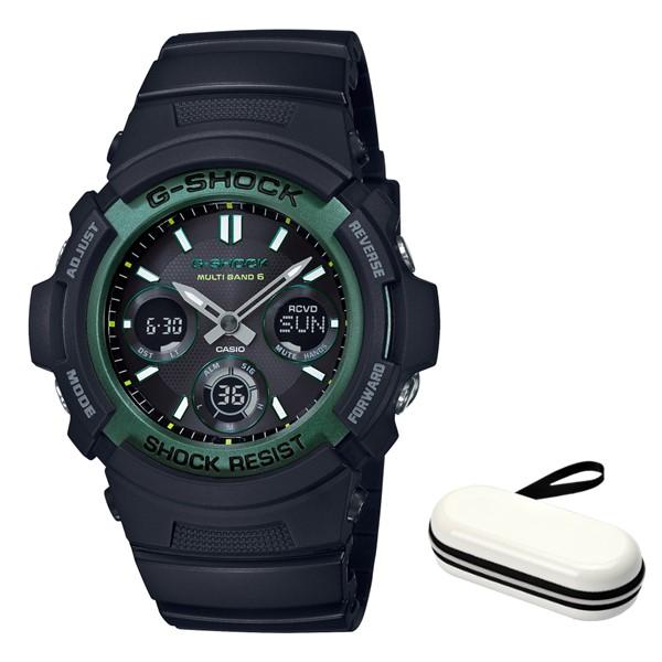 (時計ケースセット)(国内正規品)(カシオ)CASIO 腕時計 AWG-M100SF-1A3JR (ジーショック)G-SHOCK メンズ FIRE PACKAGE'19(樹脂バンド 電波ソーラー アナデジ)