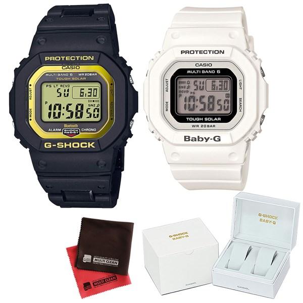(ペア箱入り・クロスセット)(国内正規品)(カシオ)CASIO ペアソーラー電波腕時計 GW-B5600BC-1JF メンズ・BGD-5000-7JF レディース G-SHOCK&BABY-G(樹脂バンド 電波ソーラー デジタル ペアウォッチ)