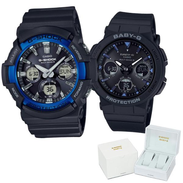 (ペア箱入り・クロスセット)(国内正規品)(カシオ)CASIO ペアソーラー電波腕時計 GAW-100B-1A2JF メンズ・BGA-2500-1AJF レディース G-SHOCK&BABY-G(樹脂バンド 電波ソーラー アナデジ ペアウォッチ)