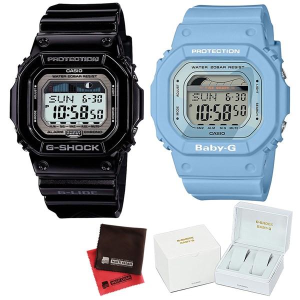 (ペア箱入り・クロスセット)(国内正規品)(カシオ)CASIO (ジーライド)G-LIDE GLX-5600-1JF メンズ・BLX-560-2JF レディース G-SHOCK&BABY-G Retro surf colors(樹脂バンド クオーツ アナログ ペアウォッチ)
