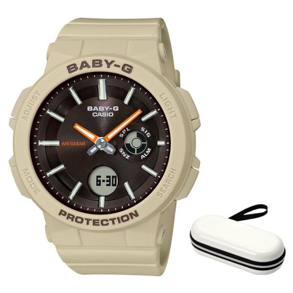 (時計ケースセット)(国内正規品)(カシオ)CASIO 腕時計 BGA-255-5AJF (ベビーG)BABY-G レディース ワンダラー・シリーズ(樹脂バンド クオーツ アナデジ)