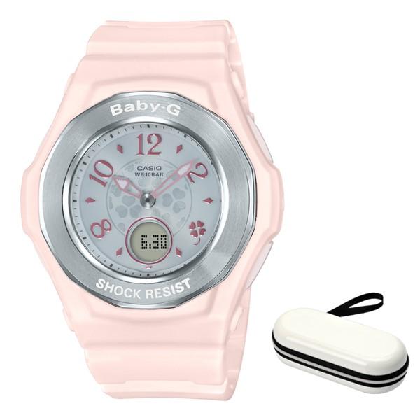 (時計ケースセット)(国内正規品)(カシオ)CASIO 腕時計 BGA-1050CD-4BJF (ベビーG)BABY-G レディース クローバー・ダイアル(樹脂バンド 電波ソーラー アナデジ)