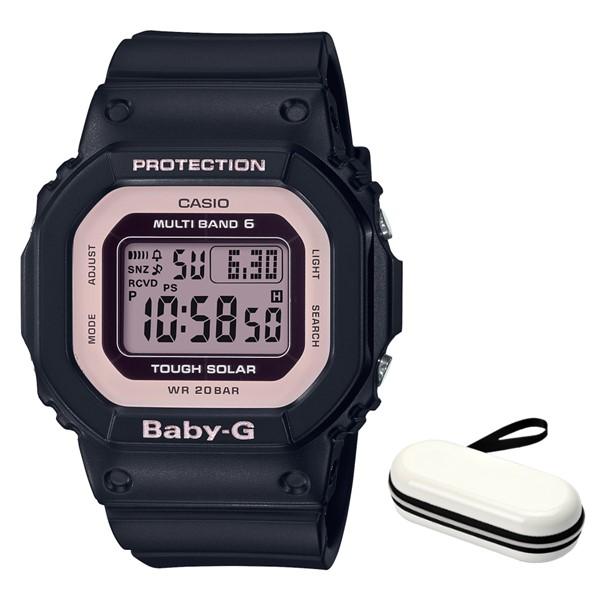 (時計ケースセット)(国内正規品)(カシオ)CASIO 腕時計 BGD-5000-1BJF (ベビーG)BABY-G レディース(樹脂バンド 電波ソーラー デジタル)