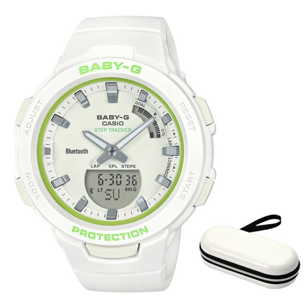 (時計ケースセット)(国内正規品)(カシオ)CASIO 腕時計 BSA-B100SC-7AJF (ベビーG)BABY-G レディース G-SQUAD(樹脂バンド クオーツ アナデジ)