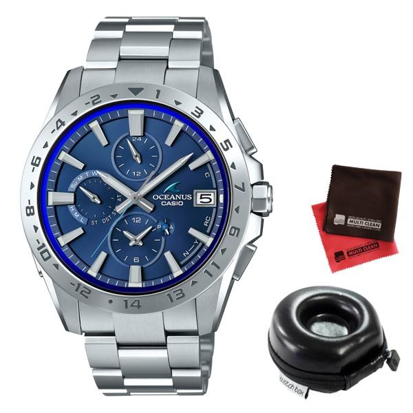 (時計ケース丸型・クロスセット)(国内正規品)(カシオ)CASIO 腕時計 OCW-T3000-2AJF (オシアナス)OCEANUS メンズ クラシックライン Bluetooth搭載(チタンバンド 電波ソーラー 多針アナログ)