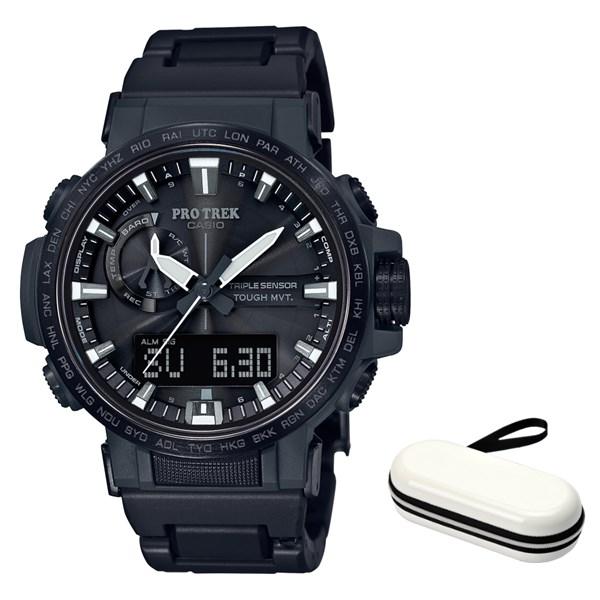 (時計ケースセット)(国内正規品)(カシオ)CASIO 腕時計 PRW-60FC-1AJF PROTREK(プロトレック) メンズ(樹脂バンド 電波ソーラー アナデジ)