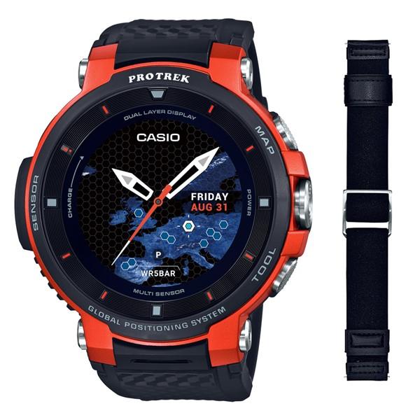 (専用替えバンドセット)(国内正規品)(カシオ)CASIO 腕時計 WSD-F30-RG PROTREK(プロトレック) スマートアウトドアウォッチ メンズ オレンジ(GPS タッチパネルディスプレイ)