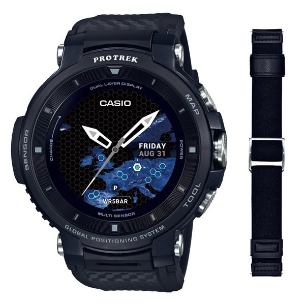 (専用替えバンドセット)(国内正規品)(カシオ)CASIO 腕時計 WSD-F30-BK PROTREK(プロトレック) スマートアウトドアウォッチ メンズ ブラック(GPS タッチパネルディスプレイ)