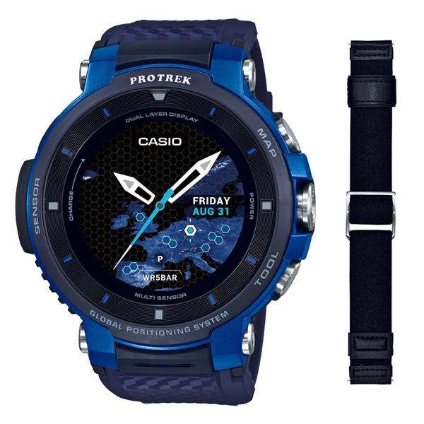 (専用替えバンドセット)(国内正規品)(カシオ)CASIO 腕時計 WSD-F30-BU PROTREK(プロトレック) スマートアウトドアウォッチ メンズ ブルー(GPS タッチパネルディスプレイ)
