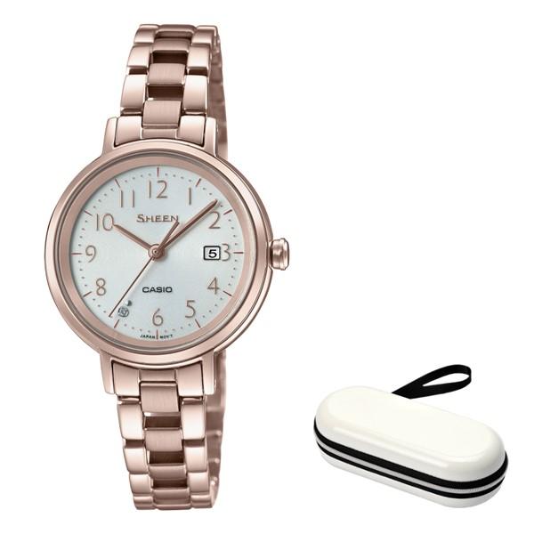 (時計ケースセット)(国内正規品)(カシオ)CASIO 腕時計 SHS-D100CG-7AJF SHEEN(シーン) レディース(ステンレスバンド ソーラー アナログ)
