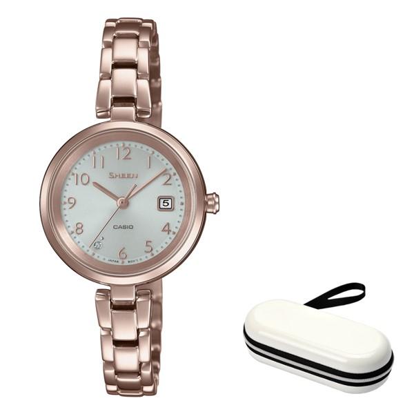(時計ケースセット)(国内正規品)(カシオ)CASIO 腕時計 SHS-D200CG-4AJF SHEEN(シーン) レディース(ステンレスバンド ソーラー アナログ)
