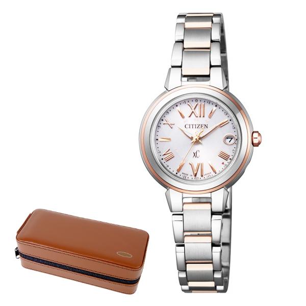 (時計ケースセット)(国内正規品)(シチズン)CITIZEN 腕時計 ES9434-53W (クロスシー)xC レディース ハッピーフライト(ステンレスバンド 電波ソーラー アナログ)