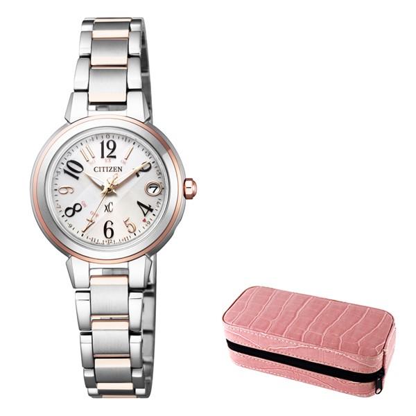 (時計ケースセット)(国内正規品)(シチズン)CITIZEN 腕時計 ES9434-53X (クロスシー)xC レディース ハッピーフライト(ステンレスバンド 電波ソーラー アナログ)