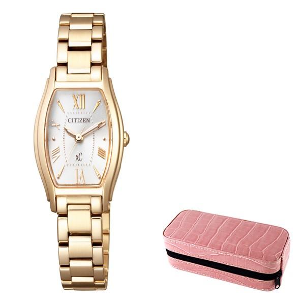 (時計ケースセット)(国内正規品)(シチズン)CITIZEN 腕時計 EW5542-57A (クロスシー)xC レディース(ステンレスバンド ソーラー アナログ)