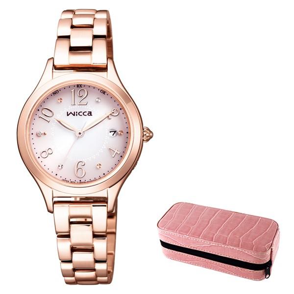 (時計ケースセット)(国内正規品)(シチズン)CITIZEN 腕時計 KS1-261-91 (ウィッカ)wicca レディース ピンクグラデーション(ステンレスバンド 電波ソーラー アナログ)