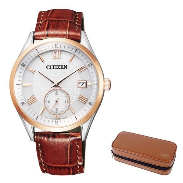 (12月新商品)(腕時計ケースセット)(国内正規品)(シチズン)CITIZEN 腕時計 BV1124-14A シチズンコレクション メンズ(牛革バンド ソーラー 多針アナログ)