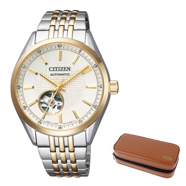(12月新商品)(腕時計ケースセット)(国内正規品)(シチズン)CITIZEN 腕時計 NH9114-81P シチズンコレクション メンズ メカニカル クラシカル オープンハート(ステンレスバンド 自動巻き(手巻付) アナログ)