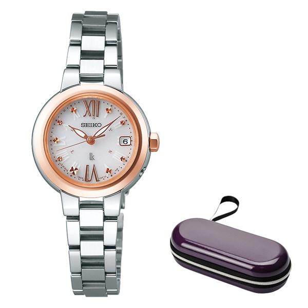 (時計ケースセット)(国内正規品)(セイコー)SEIKO 腕時計 SSVW138 (ルキア)LUKIA レディース(ステンレスバンド 電波ソーラー アナログ)
