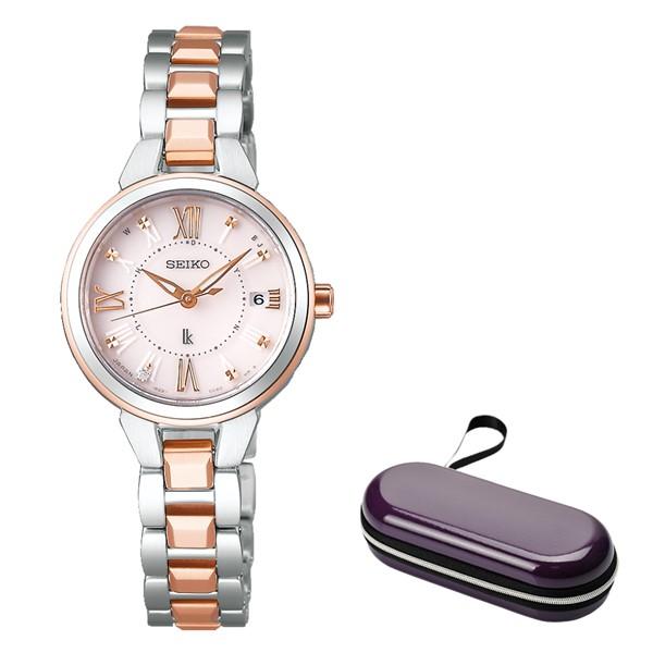 (時計ケースセット)(国内正規品)(セイコー)SEIKO 腕時計 SSVW146 (ルキア)LUKIA レディース レディダイヤ(ステンレスバンド 電波ソーラー アナログ)