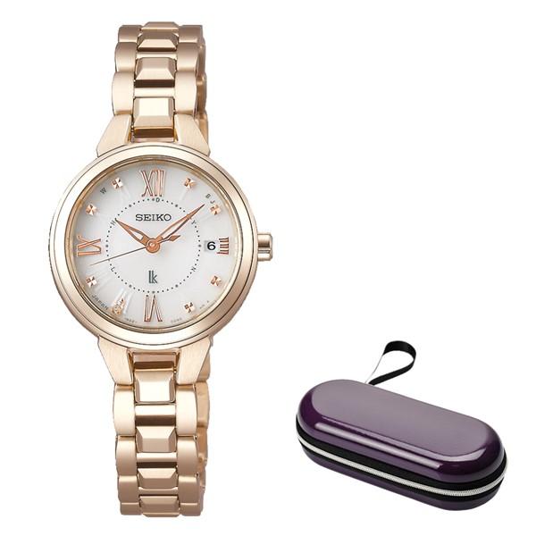 (時計ケースセット)(国内正規品)(セイコー)SEIKO 腕時計 SSVW148 (ルキア)LUKIA レディース レディダイヤ(ステンレスバンド 電波ソーラー アナログ)