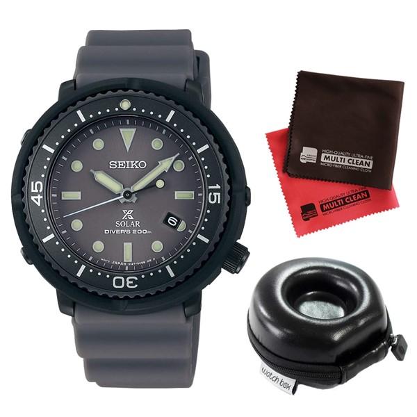 (3月新商品)(時計ケース丸型・クロスセット)(国内正規品)(セイコー)SEIKO 腕時計 STBR023 (プロスペックス)PROSPEX メンズ LOWERCASE プロデュース(シリコンバンド ソーラー アナログ)