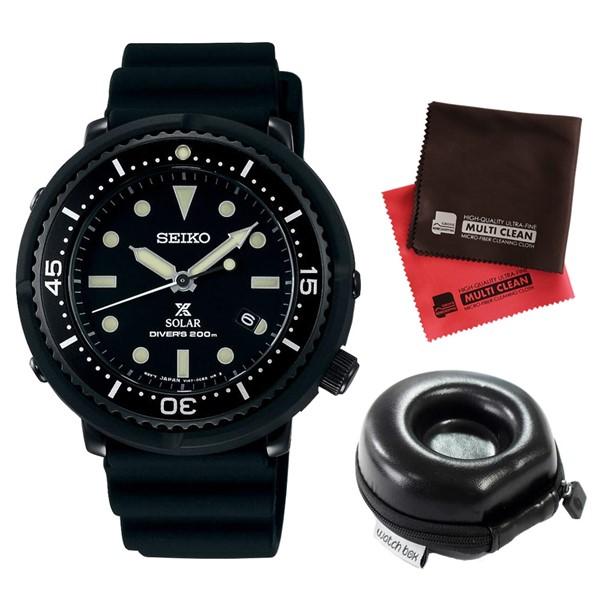 (3月新商品)(時計ケース丸型・クロスセット)(国内正規品)(セイコー)SEIKO 腕時計 STBR025 (プロスペックス)PROSPEX メンズ LOWERCASE プロデュース(シリコンバンド ソーラー アナログ)