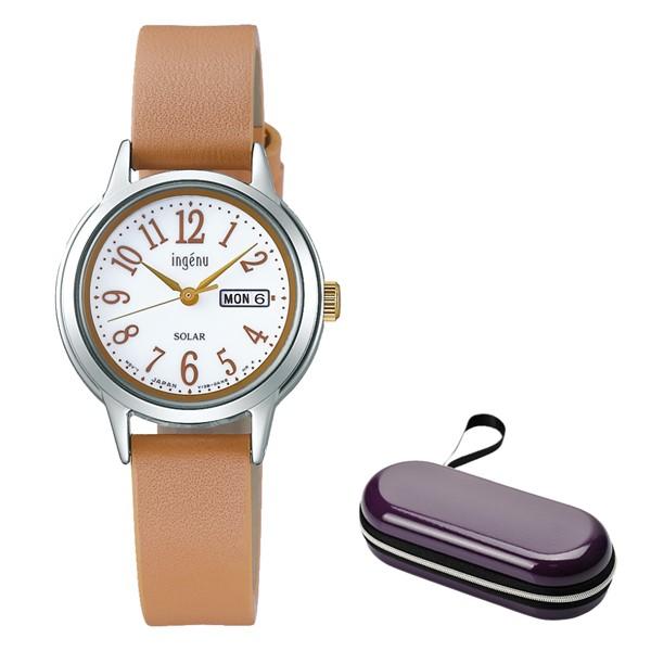 (時計ケースセット)(国内正規品)(セイコー)SEIKO 腕時計 AHJD109 (アルバ)ALBA ingenu アンジェーヌ レディース(牛革バンド ソーラー アナログ)