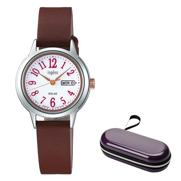 (時計ケースセット)(国内正規品)(セイコー)SEIKO 腕時計 AHJD110 (アルバ)ALBA ingenu アンジェーヌ レディース(牛革バンド ソーラー アナログ)