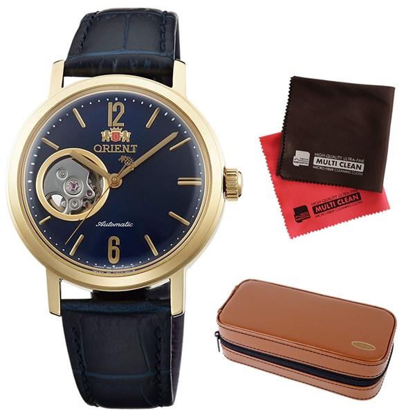 (時計ケース・クロスセット)(国内正規品)(オリエント)ORIENT 腕時計 WV0441DB (スタイリッシュ&スマート)STYLISH AND SMART SEMI SKELETON-C セミスケルトン(自動巻き オートマチック ユニセックス アナログ 革バンド)