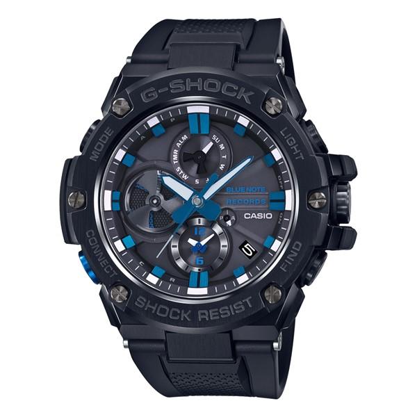 (3月新商品)(国内正規品)(カシオ)CASIO 腕時計 GST-B100BNR-1AJR (ジーショック)G-SHOCK メンズ G-STEEL BLUE NOTE RECORDS コラボ 限定モデル(樹脂バンド ソーラー 多針アナログ)