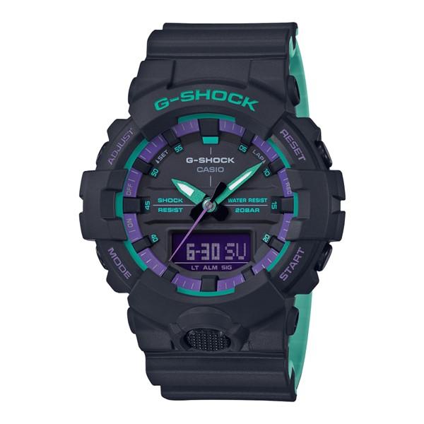 (4月新商品)(国内正規品)(カシオ)CASIO 腕時計 GA-800BL-1AJF (ジーショック)G-SHOCK メンズ BLACK & 90s Color(樹脂バンド クオーツ アナデジ)