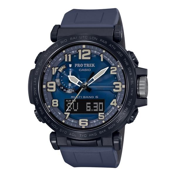 (3月新商品)(国内正規品)(カシオ)CASIO 腕時計 PRW-6600Y-2JF PROTREK(プロトレック) メンズ NAVY BLUE SERIES(シリコンバンド 電波ソーラー アナデジ)