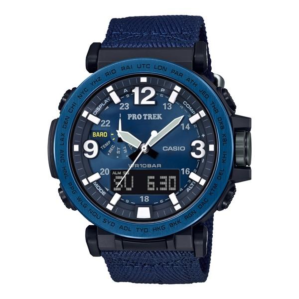 (3月新商品)(国内正規品)(カシオ)CASIO 腕時計 PRG-600YB-2JF PROTREK(プロトレック) メンズ NAVY BLUE SERIES(クロスバンド 電波ソーラー アナデジ)