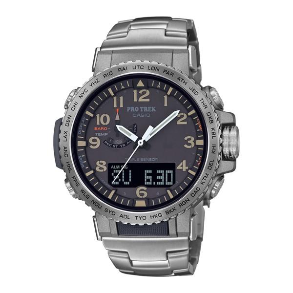 (国内正規品)(カシオ)CASIO 腕時計 PRW-50T-7AJF PROTREK(プロトレック) メンズ クライマーライン(ステンレスバンド 電波ソーラー アナデジ)