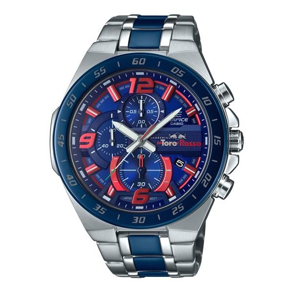 (4月新商品)(4月12日発売予定)(国内正規品)(カシオ)CASIO 腕時計 EFR-564TR-2AJR (エディフィス)EDIFICE メンズ Scuderia Toro Rosso 限定モデル クロノグラフ(ステンレスバンド クオーツ 多針アナログ)