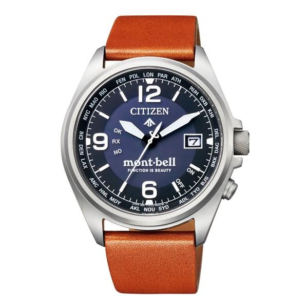 (3月新商品)(国内正規品)(シチズン)CITIZEN 腕時計 CB0171-11L (プロマスター)PROMASTER エコドライブmont-bell モンベルコラボ 限定モデル montbell(牛革バンド 電波ソーラー アナログ)