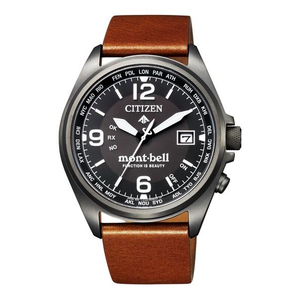 (3月新商品)(国内正規品)(シチズン)CITIZEN 腕時計 CB0177-23E (プロマスター)PROMASTER エコドライブ mont-bell モンベルコラボ 限定モデル(牛革バンド 電波ソーラー アナログ)