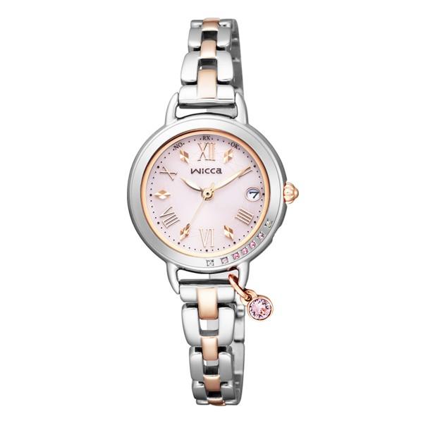 (国内正規品)(シチズン)CITIZEN 腕時計 KL0-839-91 (ウィッカ)wicca レディース ブレスライン ネット限定モデル ピンク(ステンレスバンド 電波ソーラー アナログ)