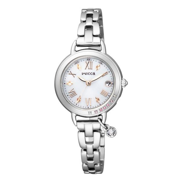 (3月新商品)(国内正規品)(シチズン)CITIZEN 腕時計 KL0-812-11 (ウィッカ)wicca レディース ブレスライン ネット限定モデル シルバー(ステンレスバンド 電波ソーラー アナログ)