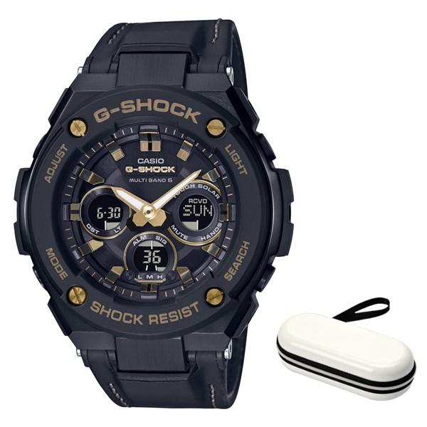 (3月新商品)(時計ケースセット)(国内正規品)(カシオ)CASIO 腕時計 GST-W300GL-1AJF (ジーショック)G-SHOCK メンズ G-STEEL(合皮バンド 電波ソーラー アナデジ)