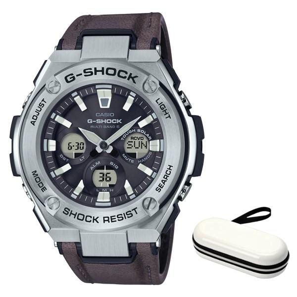 (3月新商品)(時計ケースセット)(国内正規品)(カシオ)CASIO 腕時計 GST-W330L-1AJF (ジーショック)G-SHOCK メンズ G-STEEL(合皮バンド 電波ソーラー アナデジ)
