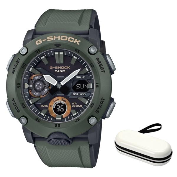 (4月新商品)(4月12日発売予定)(時計ケースセット)(国内正規品)(カシオ)CASIO 腕時計 GA-2000-3AJF (ジーショック)G-SHOCK メンズ(樹脂バンド クオーツ アナデジ)