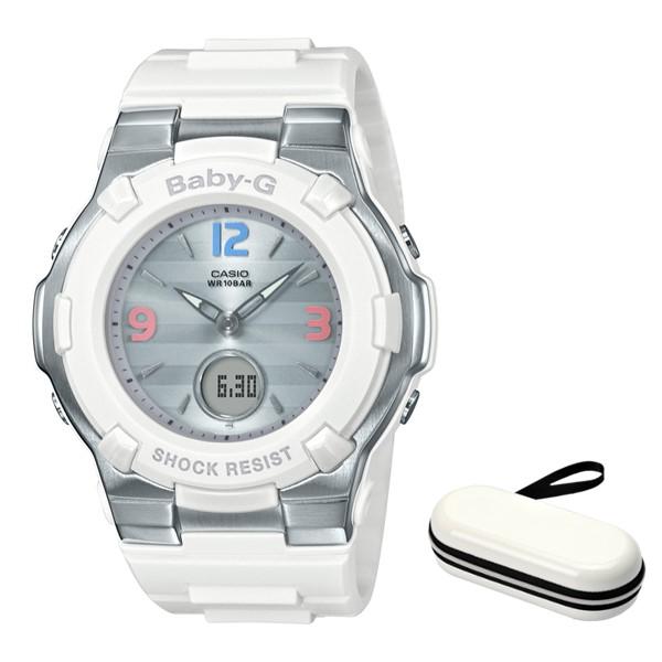 (4月新商品)(4月12日発売予定)(時計ケースセット)(国内正規品)(カシオ)CASIO 腕時計 BGA-1100TR-7BJF (ベビーG)BABY-G レディース Retro Tricolor レトロトリコロール(樹脂バンド 電波ソーラー アナデジ)