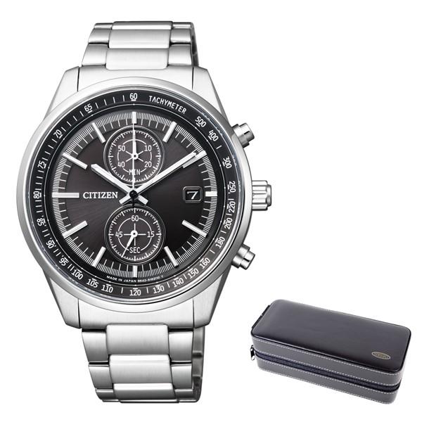 (3月新商品)(時計ケースセット)(国内正規品)(シチズン)CITIZEN 腕時計 CA7030-97E Cコレクション メンズ スマートスポーツ クロノグラフ(ステンレスバンド ソーラー 多針アナログ)