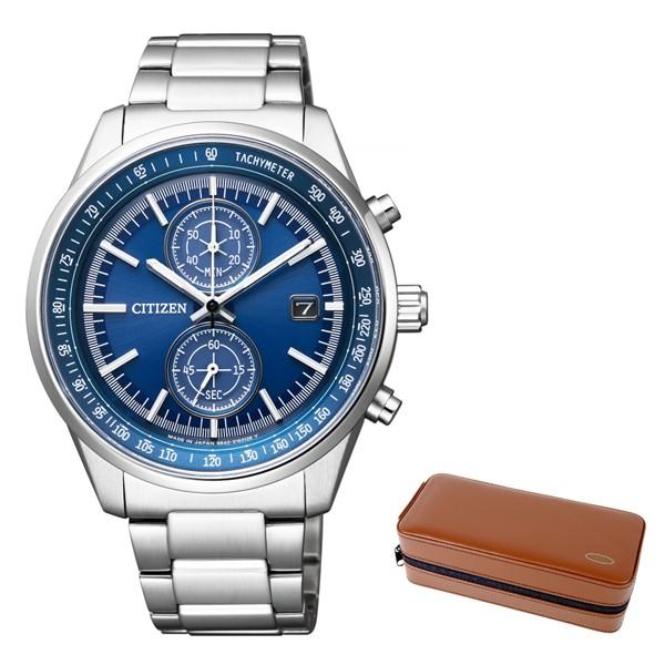 (3月新商品)(時計ケースセット)(国内正規品)(シチズン)CITIZEN 腕時計 CA7030-97L Cコレクション メンズ スマートスポーツ クロノグラフ(ステンレスバンド ソーラー 多針アナログ)